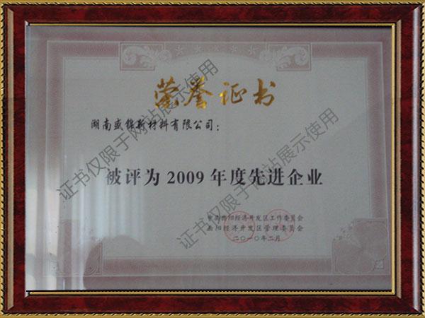2009年度先进单位